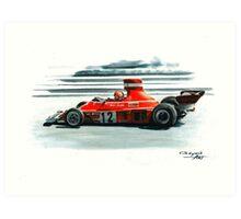 1974  Ferrari 312B3 Art Print