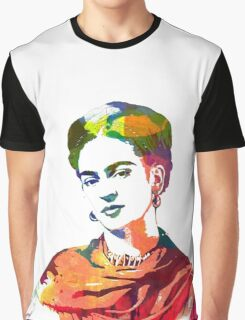 Frida Kahlo watercolour portrait Graphic T-Shirt