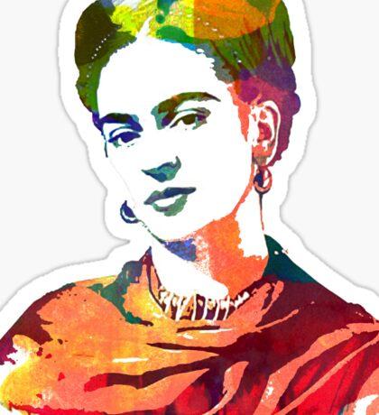 Frida Kahlo watercolour portrait Sticker
