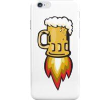 Beer Mug Rocket Ship Blasting Retro iPhone Case/Skin
