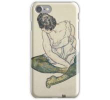 Egon Shiele - Seated Woman With Green Stockings iPhone Case/Skin