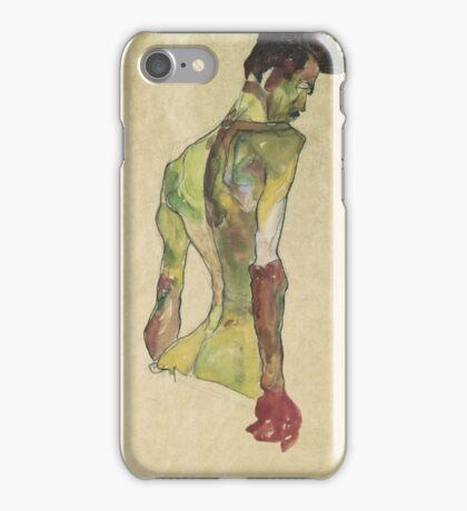 Egon Shiele - Male Nude In Profile Facing Right iPhone Case/Skin