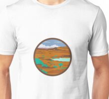 Desert Scene Circle Retro Unisex T-Shirt