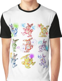 Easter bunny dancing. Be crazy! Have fun! Graphic T-Shirt