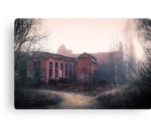 Abandoned match factory Canvas Print