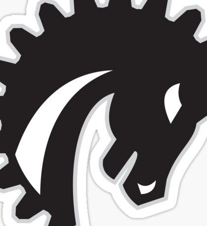 War Horse Spiked Mane Side Retro Sticker