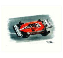 1978  Ferrari 312T3 Art Print