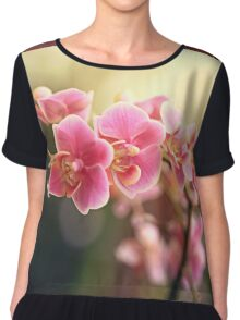 Pink Orchid Branch  Chiffon Top