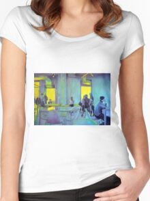 A moment in time, 2011, 120-80cm, oil on canvas Women's Fitted Scoop T-Shirt
