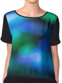 Abstract blurred background Chiffon Top