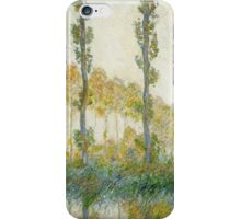 Claude Monet - The Three Trees Autumn iPhone Case/Skin