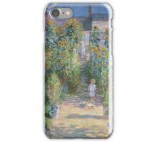 Claude Monet - The Artists Garden at Vetheuil  iPhone Case/Skin