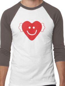Cute Candy Heart - emerald Men's Baseball ¾ T-Shirt