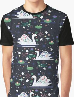 Swans on Stars  Graphic T-Shirt