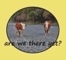 Are we there yet? Wandering Cows Kids Tee