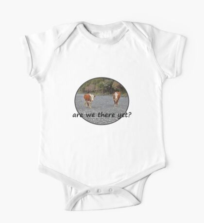 Are we there yet? Wandering Cows One Piece - Short Sleeve