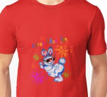 Easter bunny dancing. Be crazy, have fun! Unisex T-Shirt