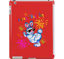 Easter bunny dancing. Be crazy, have fun! iPad Case/Skin