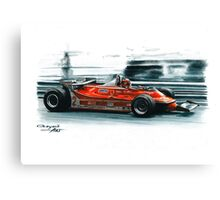 1980  Ferrari 312T5, Monaco GP Canvas Print