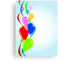 Balloons and Confetti Party Canvas Print