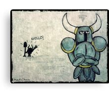 Helloo!! - Shovel Knight Canvas Print