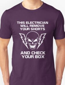 Electrician wire light Unisex T-Shirt