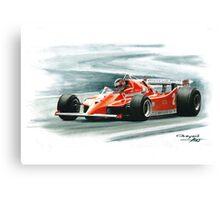 1980  Ferrari 126C. Italy GP Canvas Print