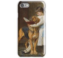 Briton Riviere - Reading Lesson Compulsory Education iPhone Case/Skin