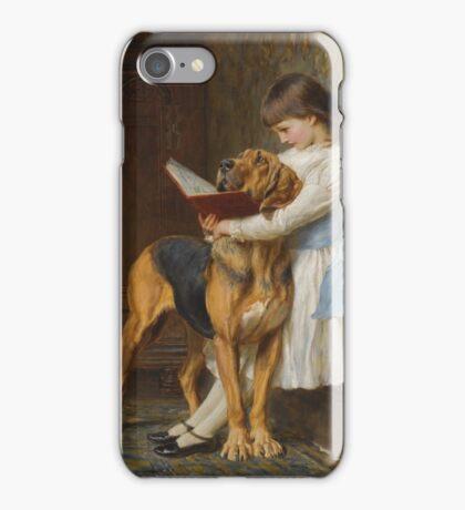 Briton Riviere - Reading Lesson Compulsory Education iPhone Case/Skin