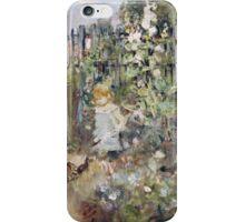 Berthe Morisot - A Child In The Rosebeds iPhone Case/Skin