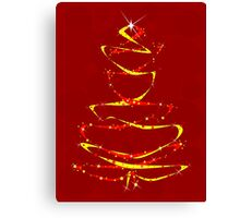 Red and Yellow Ribbon Tree Canvas Print