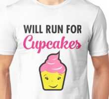 Will Run For Cupcakes Unisex T-Shirt