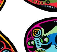 Multi-color Catdrop Trio Sticker