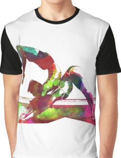 Couple yoga watercolour art Graphic T-Shirt