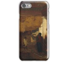 Louis Comfort Tiffany, , Snake Charmer at Tangier, Africa iPhone Case/Skin