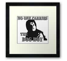 No One Carries The Dog Boy Framed Print
