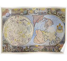 Map of Heaven and Earth 1699 Poster