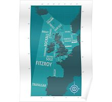 Shipping Forecast Map 1 Poster