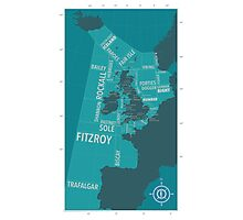 Shipping Forecast Map 1 Photographic Print