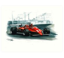 1982  Ferrari 126C2  Art Print
