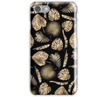 Modern gold tropical leaves pattern iPhone Case/Skin