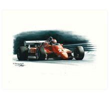 1982  Ferrari 126C2 Italy GP Art Print