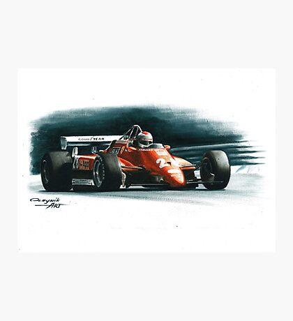 1982  Ferrari 126C2 Italy GP Photographic Print