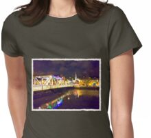Moonlit night on Merchant´s Quay 002 Womens Fitted T-Shirt