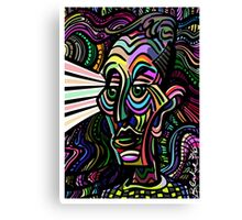 Groovy Wise and Kind Radiant Sage Canvas Print