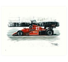 1983  Ferrari 126C3 Art Print