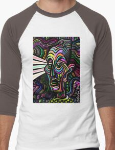 Groovy Wise and Kind Radiant Sage Men's Baseball ¾ T-Shirt