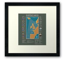 Shipping Forecast of British Framed Print