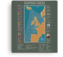 Shipping Forecast of British Canvas Print