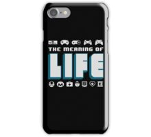 Video Games The Meaning Of Life iPhone Case/Skin